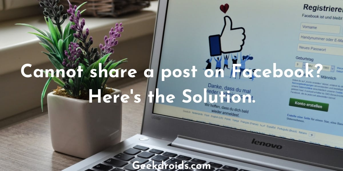 Cannot share a post on Facebook? Here's the Solution.