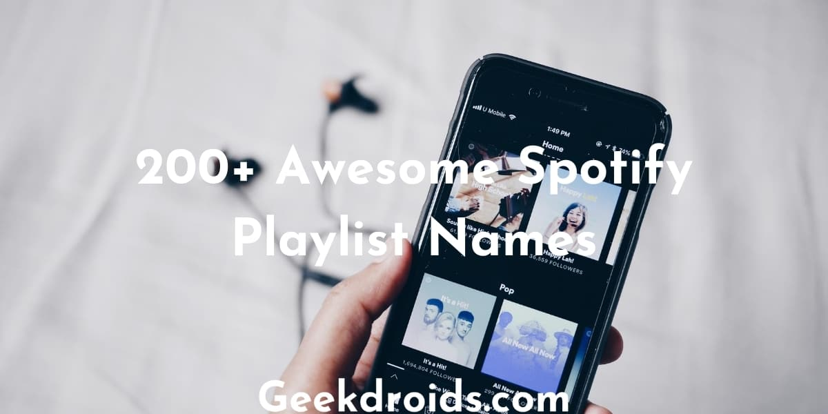 130+ Awesome Spotify Playlist Names